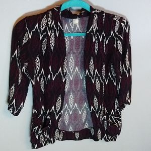 Forever 21 cute maroon cardigan size small s